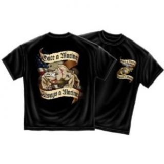 USMC Marines, Once A Marine Always a Marine T Shirt, XL at  Men�s Clothing store: Fashion T Shirts