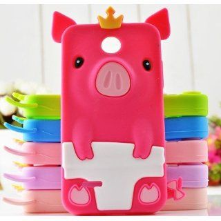 Hot Pink 3D Cute Lovely Cartoon Crown Pig Case Cover for Huawei T Mobile Astro Prism C8650: Cell Phones & Accessories