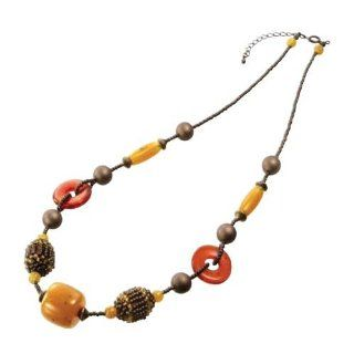 Create Your Own DIY Miyuki Glass Bead Necklace Kit   Brown / Amber Rings