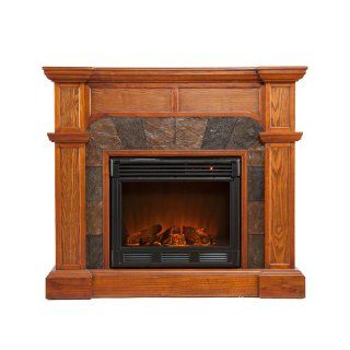 SEI Cartwright Convertible Electric Fireplace, Espresso   Gel Fuel Fireplaces