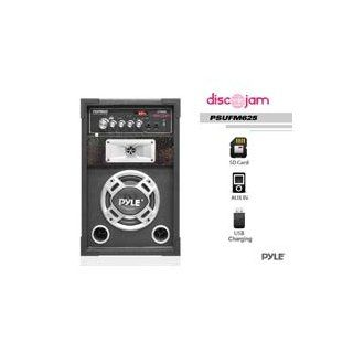 Pyle PSUFM625 Disco Jam 600 Watt 2 Way PA Speaker System, SD Card Reader, FM Radio, AUX/ Input, USB Charging Musical Instruments