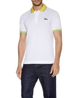 Lacoste Brazil themed polo shirt White