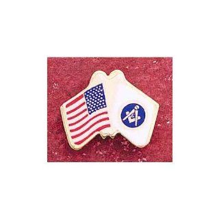 NEW GIFT:US U.S. USA U.S.A FLAG MASONIC LAPEL PIN! MASON MASONIC LAPEL PIN TIE TACK, NEW, Masonic Logo Mason, Freemason Freemasons Free Mason Masons Masonic Masonry Freemasonry Past Masters' Emblem Shriner, york Scottish Rite, Grotto, movper, Craft Lod