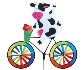 Cow Bicycle Spinner   (Wind Garden Products) (Outside Ornaments): Patio, Lawn & Garden