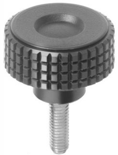 Knurled knob screw, made from thermoplast, outside diameter 40mm, external thread M6 x 10mm: Thumb Screws: Industrial & Scientific