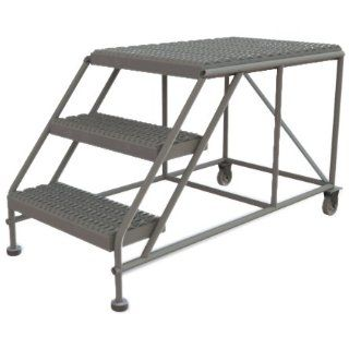 Tri Arc WLWP032436 3 Step Forward Descent Mobile Steel Work Platform, 24 Inch x 36 Inch Platform, 50 Inch Long Overall: Stepladders: Industrial & Scientific