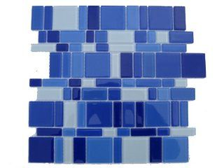 "Blue Magic Mosaic Glass Tile Please Select a Size: Sheet 12""x12"""