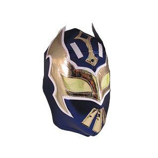 SIN CARA Adult Lucha Libre Wrestling Mask (pro fit) Costume Wear   Navy Blue: Sports & Outdoors