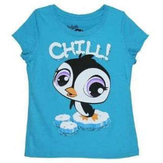 "Littlest Pet Shop ""Chill!"" Penguin Girls T shirt: Clothing"