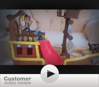 Fisher Price Jake and The Never Land Pirates   Jake's Musical Pirate Ship Bucky: Toys & Games