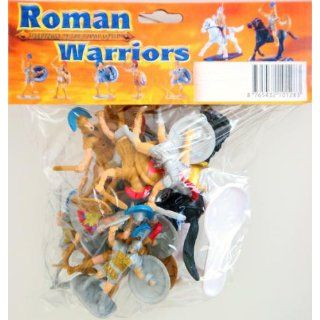 Roman Warriors Figure Playset (10 Warriors w/Shields & Weapons & 2 Horses) (Bagged) by BMC: Toys & Games