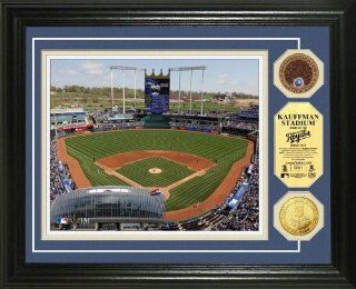 Kansas City Royals Kauffman Stadium Gold & Infield Dirt Coin Photo Mint : Picture Lights : Sports & Outdoors