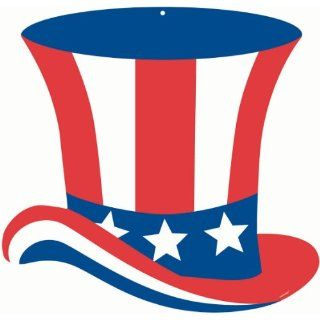 Patriotic Hat Cutout (1 per package): Toys & Games