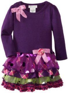 Bonnie Jean Girls 2 6X Tiered Drop Waist Dress, Purple, 2T Bonnie Jean Clothing