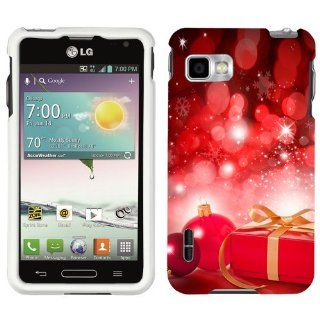 LG Optimus F3 T Mobile Christmas Red Ornaments with Present Phone Case Cover: Cell Phones & Accessories