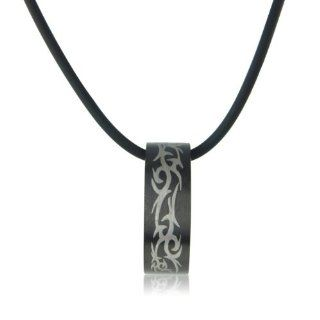 Mens Necklace Maori style ring on black cord   arrives in Gift Bag for the perfect men's present: Kacie Lee: Jewelry