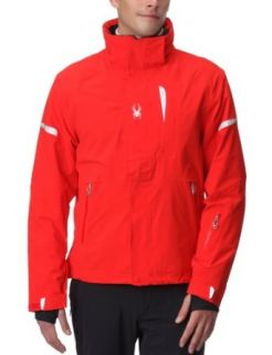 Spyder Men's Cosmos Jacket, Volcano/Silver, Small : Skiing Jackets : Sports & Outdoors