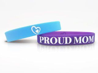 Proud Mom Bracelets   #ProudMomMission   High Quality Silicone Wristbands for Wife, Mother, Mommy, and Moms to be   Mother's Day Gift, Present, or Accessory   Best Customized Athletic Band for Mothers.  Sports Wristbands  Sports & Outdoors