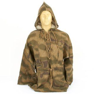 German WWII Linen Smock with Hood Tan & Water Camouflage