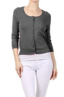 G2 Chic Women's Quarter Sleeve Button Cardigan at  Women�s Clothing store