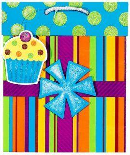 Birthday Present Medium Gift Bag Party Accessory: Clothing