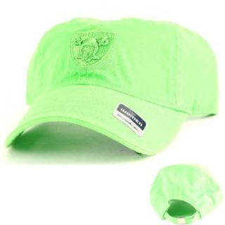 Oakland Raiders Women's Lime Green Adjustable Baseball Hat : Sports Fan Baseball Caps : Clothing