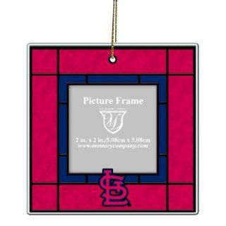 MLB St. Louis Cardinals Art Glass Picture Frame Ornament : Sports Fan Hanging Ornaments : Sports & Outdoors
