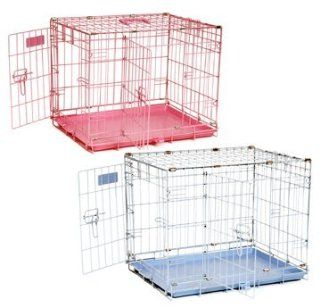 "Precision Pet ProValu by Great Crate Two Door SPECIAL EDITION   Baby Blue. Perfect for Puppies and Small Dogs! Available in PINK or BLUE, this ""suitcase style"" wire crate provides safety, security, ventilation, and visibility for your pet in a du"