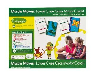 Fundanoodle Muscle Movers Lower Case Letter Cards and Activity Kit, Ages 5 6/K to First Grade (15282) : Early Childhood Development Products : Office Products