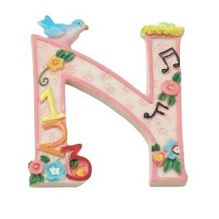 "MARY ENGELBREIT Decorative Alphabet Letter Super Magnet ~ ""N"" ~ Nest ~ Numbers ~ Notes: Refrigerator Magnets: Kitchen & Dining"