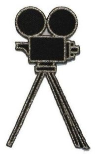 ID #2368F Old Fashion Film Camera Movie Magic Iron On Badge Applique Patch Toys & Games