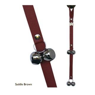 PoochieBells Premium Edition Genuine Dog Housetraining Doorbell in Premium Saddle Brown Leather. Endorsed by Industry Professionals. Effective in Housetraining Any Age Dog Quickly and Easily with PoochieBells. Easy training instructions included.  Pet Doo