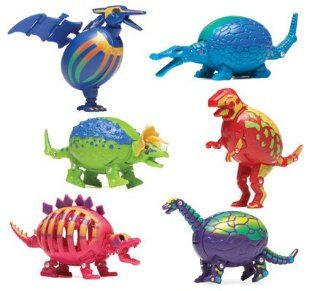 Hog Wild Dinosaur Puzzled Eggs   Triceratops: Toys & Games