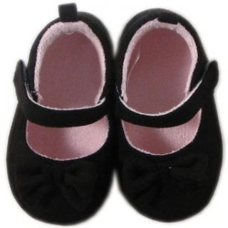 Luvable Friends Mary Jane Shoe for Baby Girls, Black, 0 6 Months: Clothing