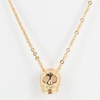 "Kitsch Brand, Really Important Person (RIP), Skull Choker Necklace in Gold Plate, 16"" Length, #7362: Taos Trading Jewelry: Jewelry"