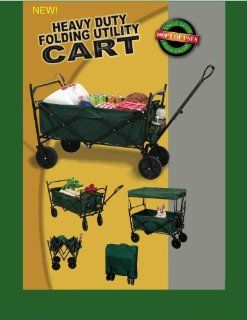 FOLDING HEAVY DUTY UTILITY CART WITH CANOPY AND STORAGE COVER  Yard Carts  Patio, Lawn & Garden