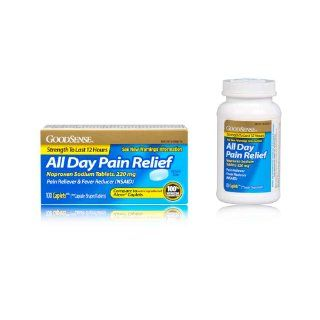 Good Sense All Day Pain Relief, Naproxen Sodium Caplets, 220mg, 100 count: Health & Personal Care