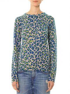 Shane leopard print cashmere sweater  Equipment