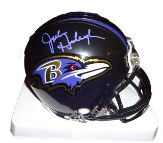 John Harbaugh Autographed Baltimore Ravens Mini Helmet W/PROOF, Picture of John Signing For Us, Baltimore Ravens, Super Bowl XLVII Champs at 's Sports Collectibles Store