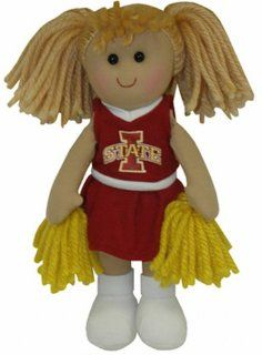NCAA Iowa State Cyclones Small Plush Cheerleader Doll : Sports Related Collectibles : Sports & Outdoors