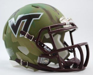 Virginia Tech Hokies Camo Riddell Speed Mini Football Helmet : Sports Related Collectible Full Sized Helmets : Sports & Outdoors