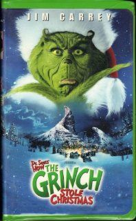 How the Grinch Stole Christmas (2000 Feature Film Starring Jim Carrey) [VHS Video] [Clamshell Case]: Jim Carrey, Taylor Momsen, Jeffrey Tambor, Christine Baranski, Bill Irwin, Ron Howard, Aldric La'auli Porter, Brian Grazer, David Womark, Linda Fields,