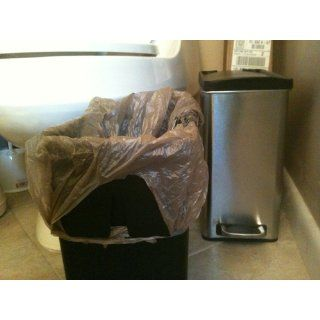 simplehuman Profile Step Trash Can, Brushed Stainless Steel, 10 Liters / 2.6 Gallons   Waste Bins