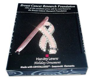 Breast Cancer Research Foundation Christmas Holiday Ornament   Decorative Hanging Ornaments