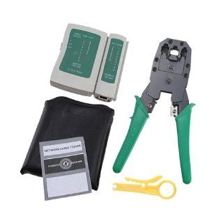 High Quality Computer Network Crimp/cut/strip Tool KIT Rj45 Rj11 Cable Tester and Crimping Lan Pliers   Circuit Testers