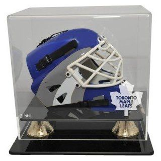 Toronto Maple Leafs Mini Hockey Helmet Display Case, Horizontal View : Sports Related Display Cases : Sports & Outdoors