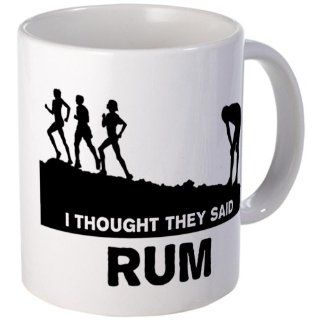 CafePress I thought they said rum Mug   Standard Multi color: Kitchen & Dining