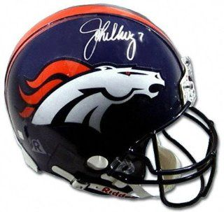 John Elway & Terrell Davis Denver Broncos Combo Autographed Pro Helmet : Sports Related Collectible Helmets : Sports & Outdoors