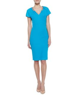 Womens Chain Detailed Jersey Dress   Escada   Lagoon (44)