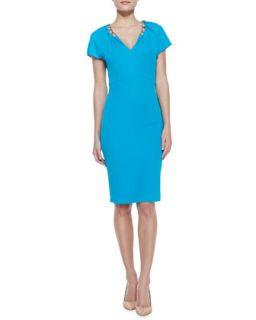 Womens Chain Detailed Jersey Dress   Escada   Lagoon (44)